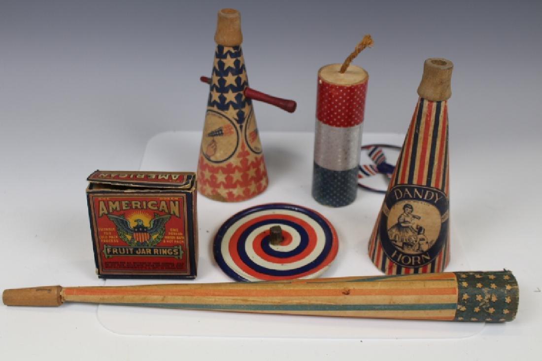 July 4th Patriotic Holiday Caardboard Items 1900s