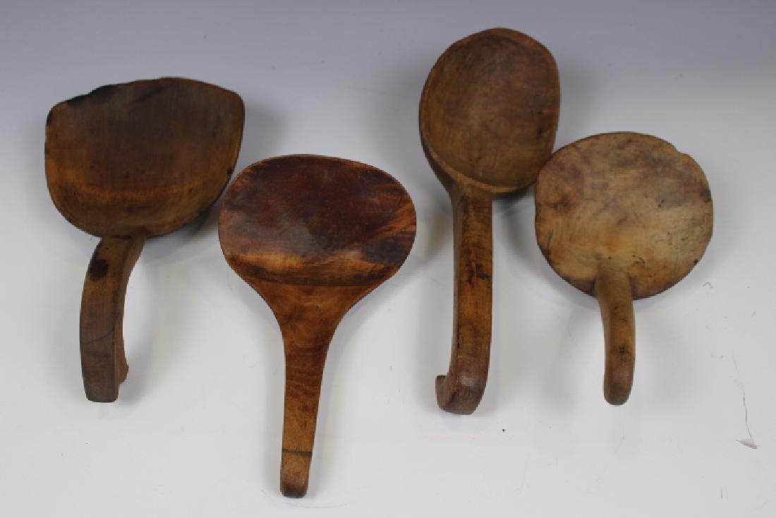 Group of 4 19th C Scoops / Paddles
