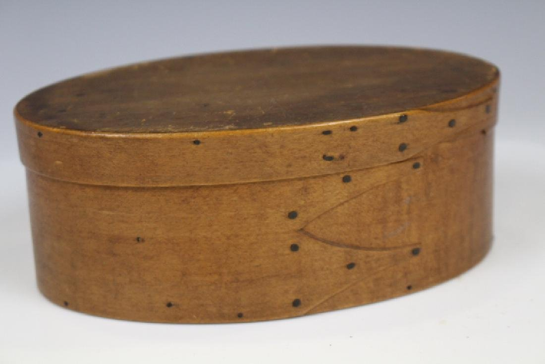 19th C Shaker Oval Pantry Box