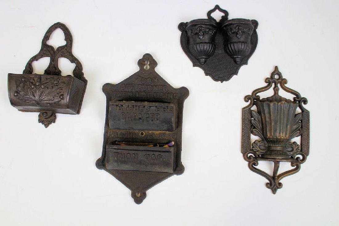 Cast Iron Match Holders