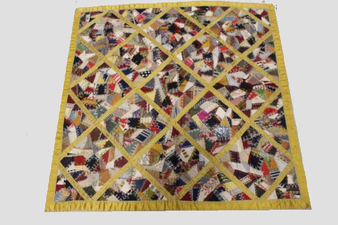 Crazy Quilt Table Cover