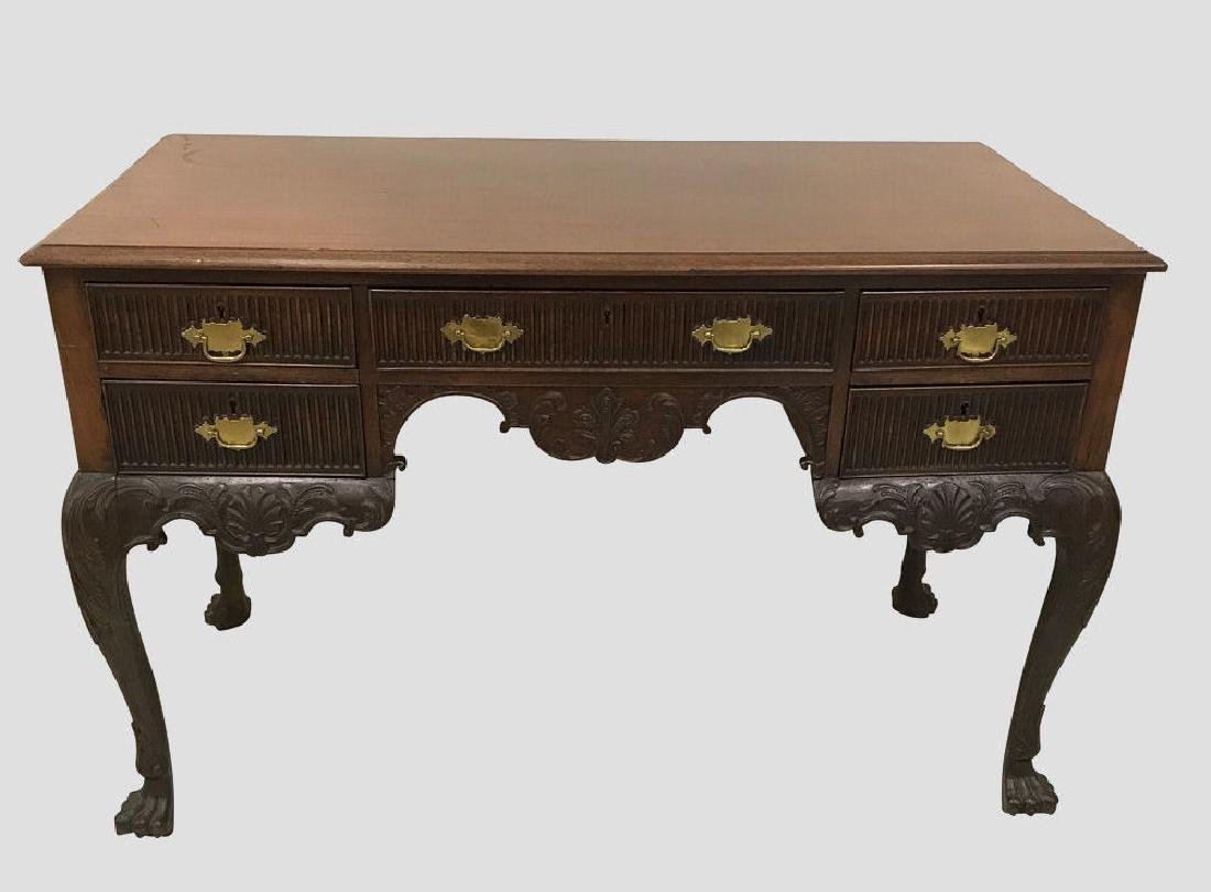 Carved Mahogany Desk Late 19th C