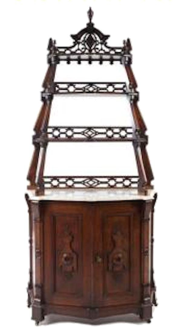 Walnut Victorian Etergere