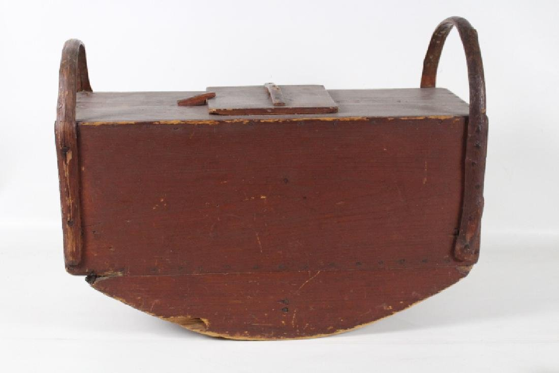Red Painted Tabletop Rocking Butter Churn