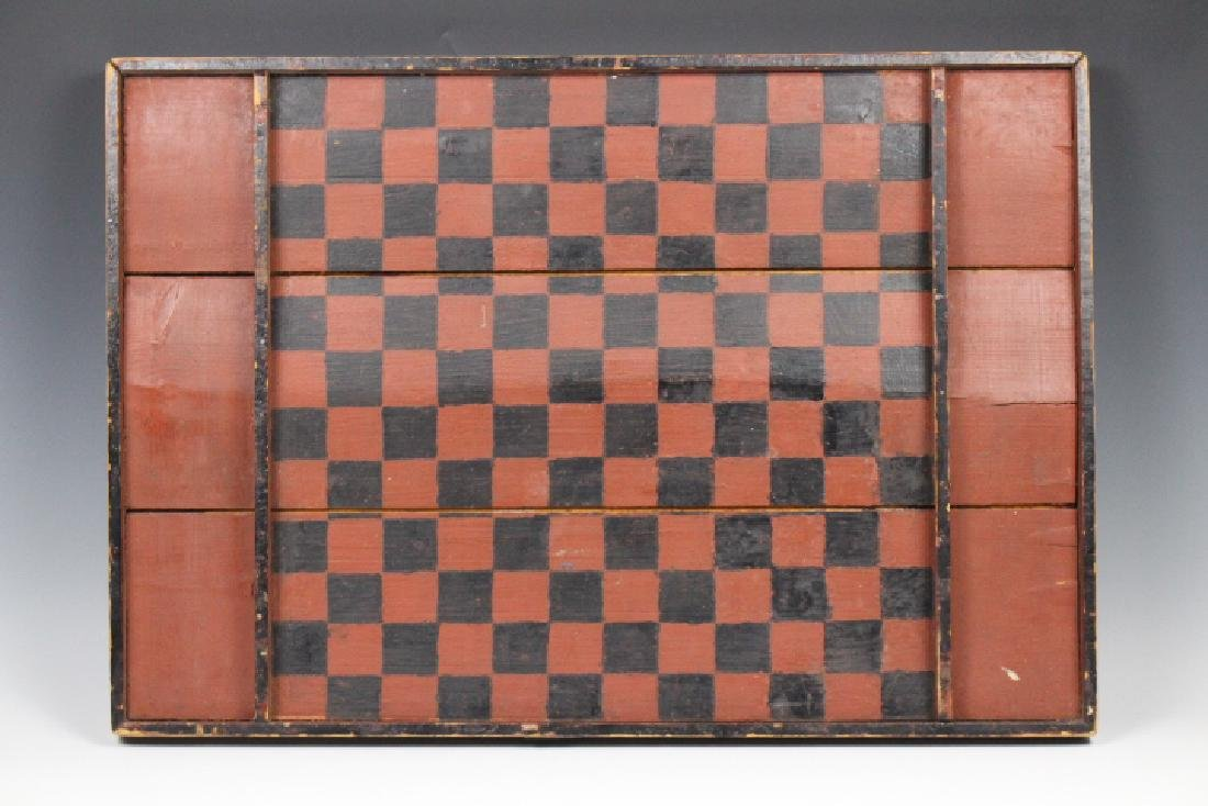 Folk Art Painted Game Board
