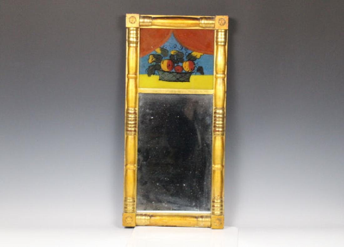 Federal Period Mirror w/ Reverse Painted Tablet