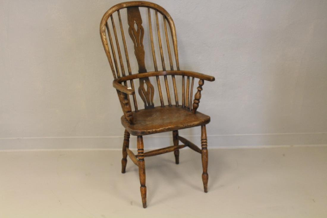 19th C High Back Windsor Chair