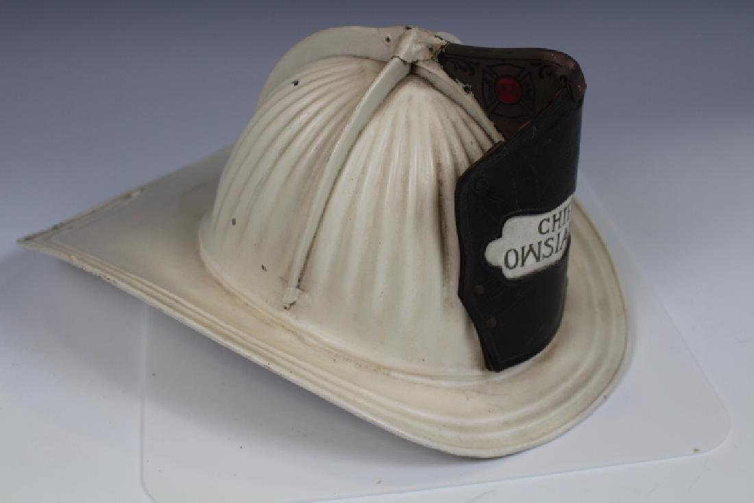 Antique Fireman's Aluminum Helmet