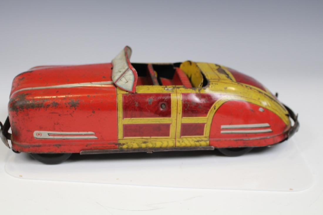 1947-48 Wyandotte Tin Woody Convertible Toy Car