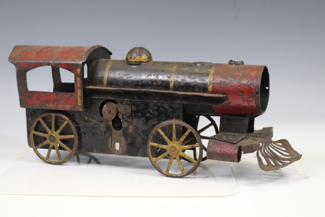 Late 1800s Tin Train Locomotive Steam Engine