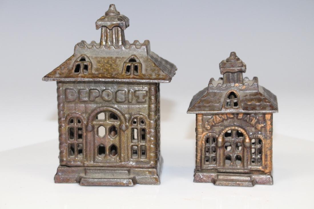 Pair Cast Iron Building Banks