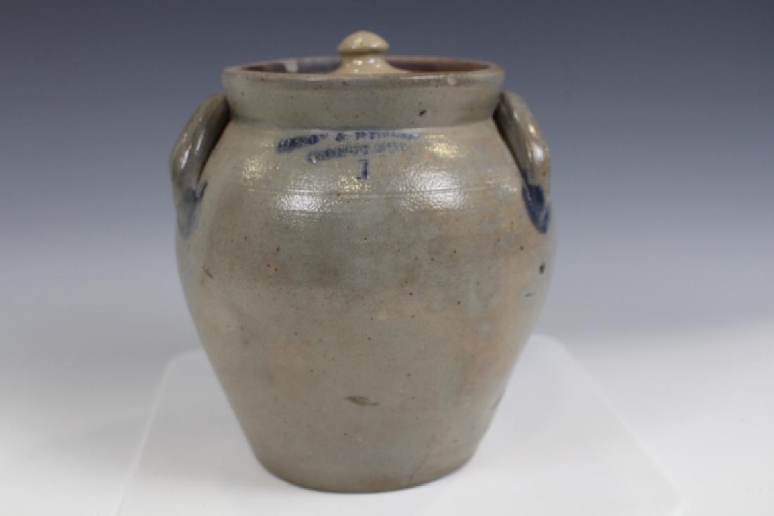 Stoneware Ovoid Jar Mason & Russel Cortland NY