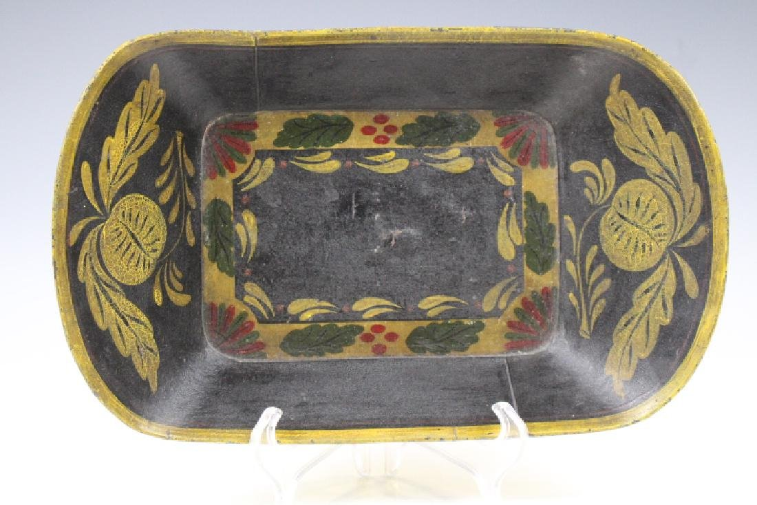 Tole Painted Bread / Apple Tray
