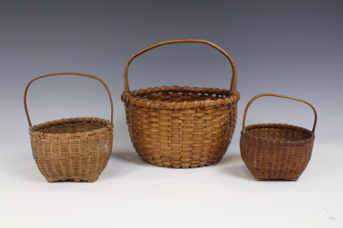 Miniature Ash Woven Baskets