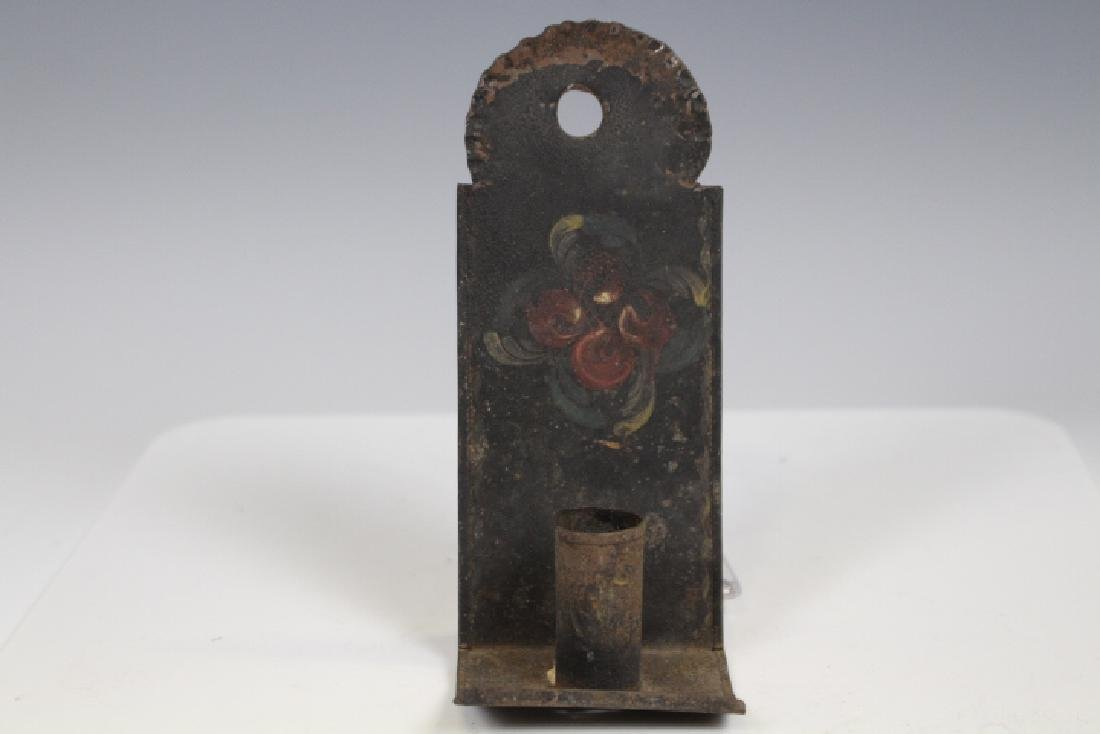 Toleware Painted Candle Sconce