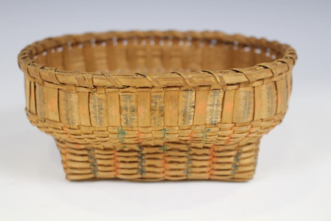 Native American Indian Potato Print Miniature Basket