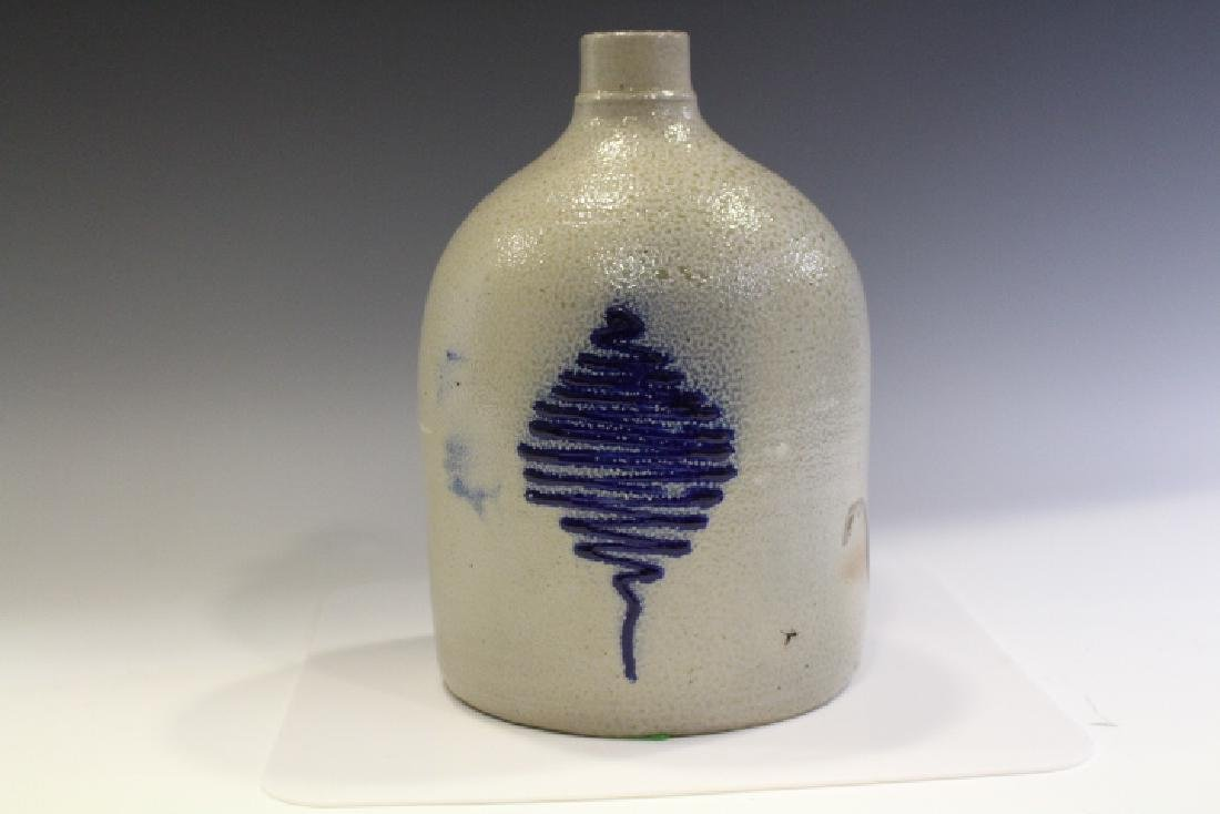 N. A. White & Son Stoneware Jug w/Cobalt Decor