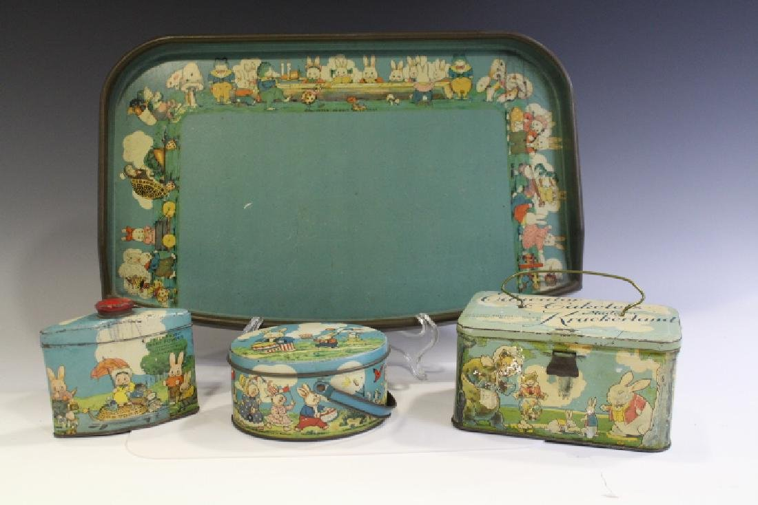 Peter Rabbit Children's Tins & Baby's Tray