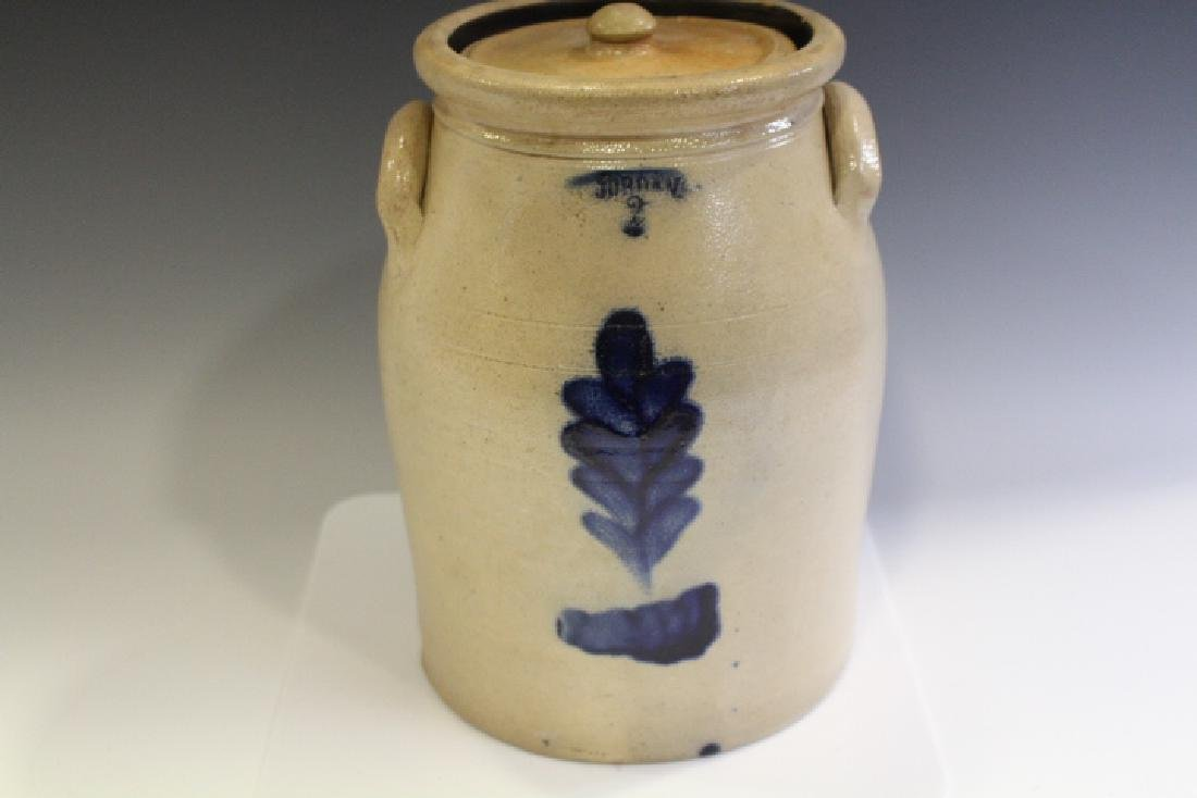 2 Gallon Jordan Stoneware Lidded Storage Crock