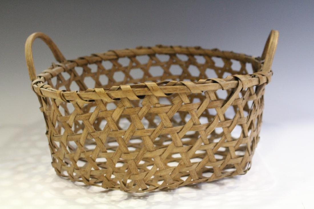 Splint Ash Cheese Basket w/ Handles