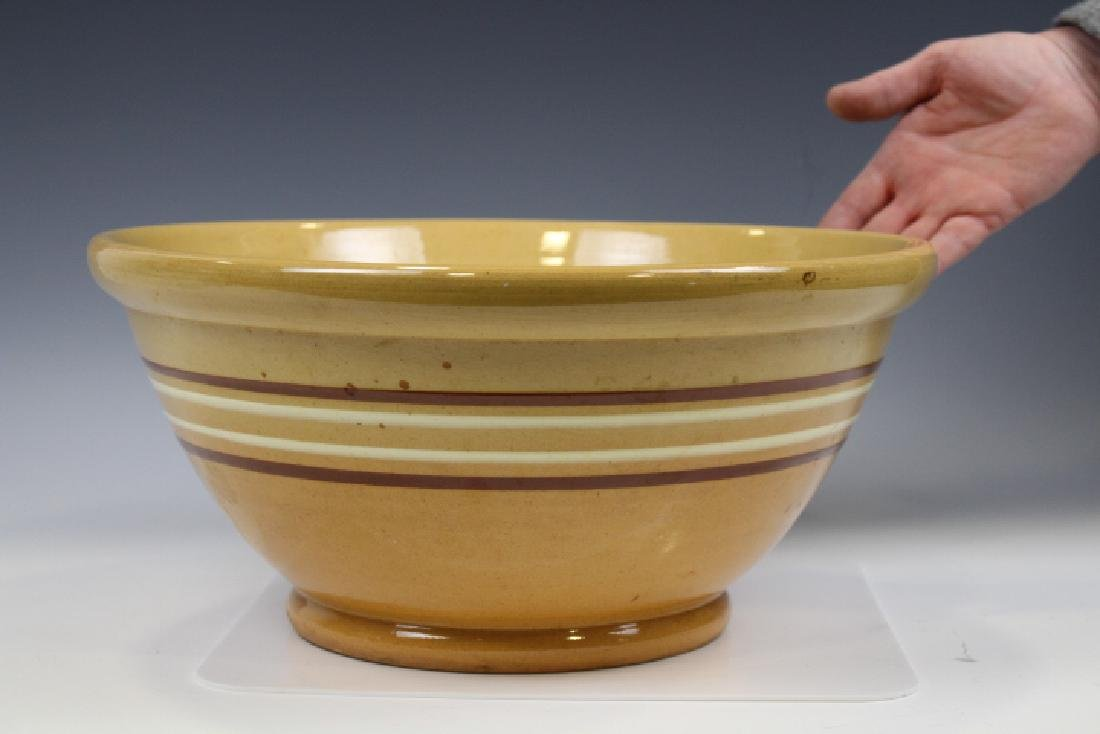 Very Large Yellowware Banded Mixing Bowl