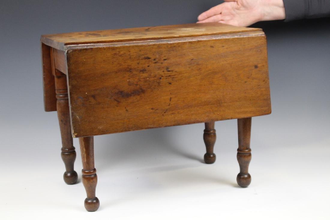 Walnut Miniature Child's Dropleaf Table