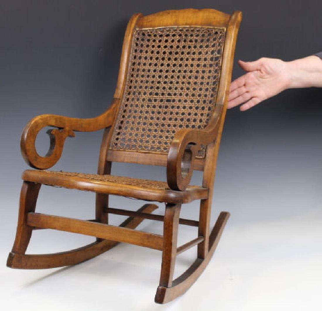 Child's Lincoln Rocker w/ Caned Seat & Back