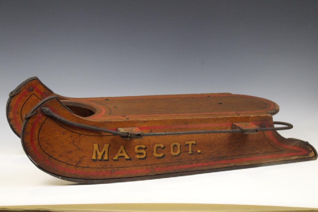 Victorian Solid Oak Child's Sled