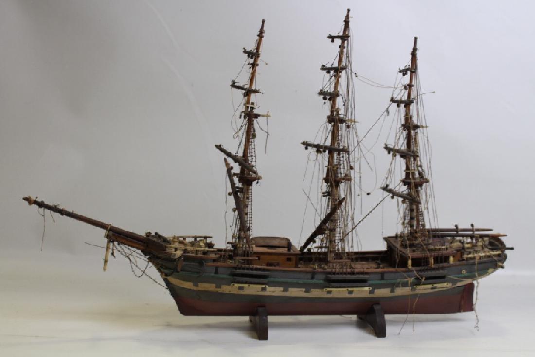 Folk Art Model Ship - Unnamed