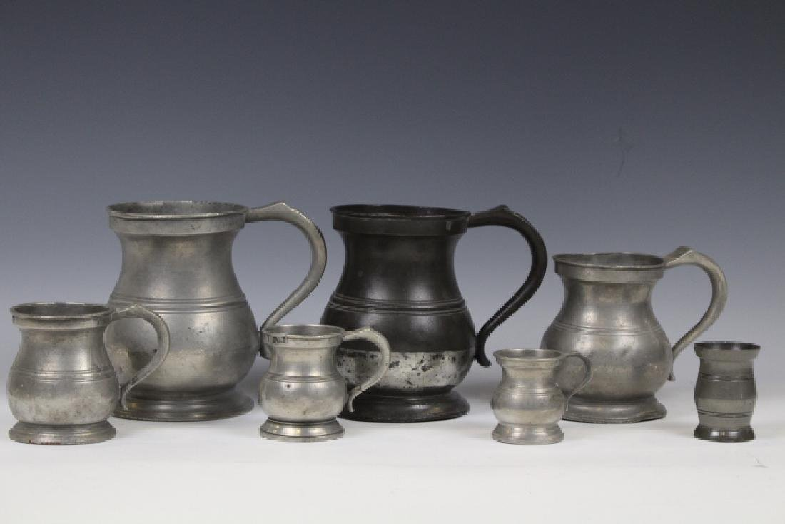 James Yates Pewter Measures - 18th to Early 19th C