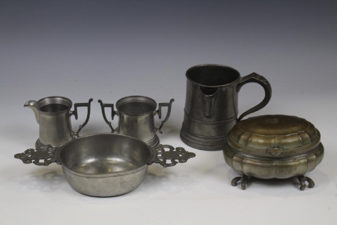 Group of 5 Pewter Items