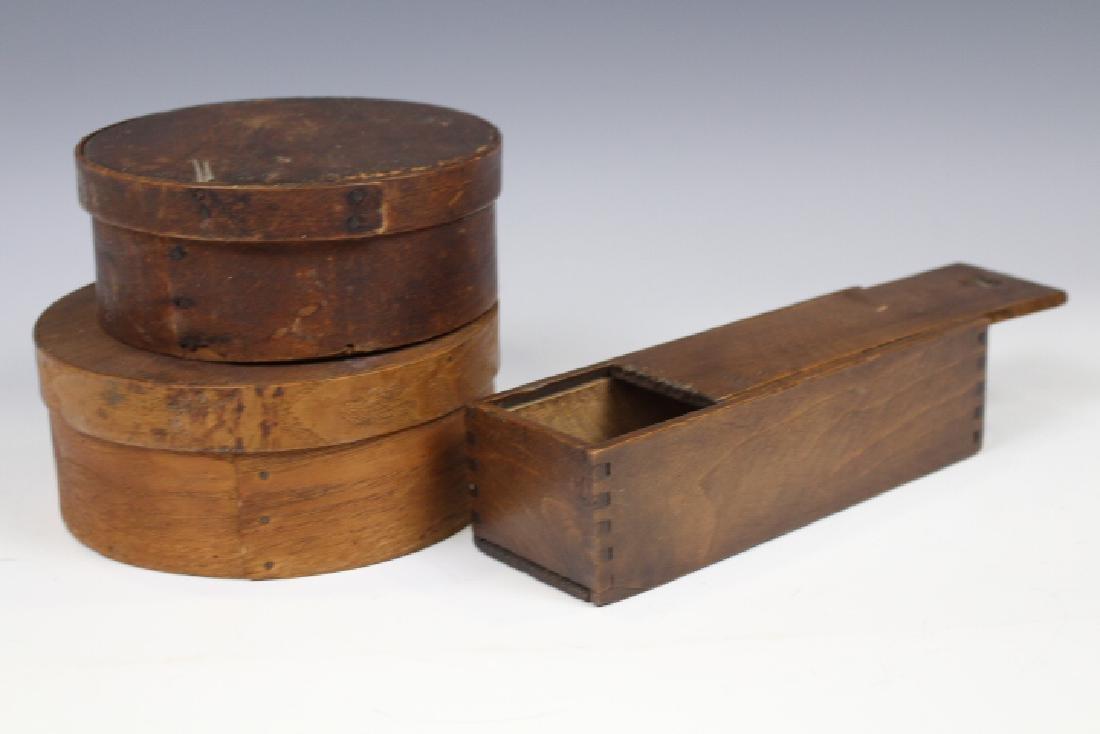 19th C Pantry Boxes & Slide Lid Box