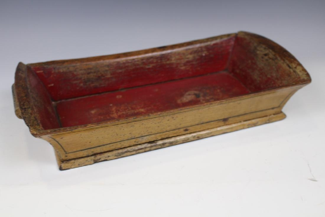 Painted Treenware Apple Tray / Bread Tray