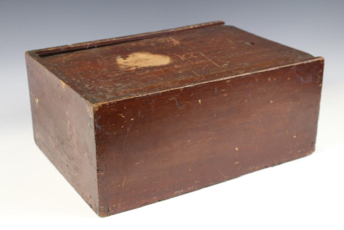 Pennsylvania Early 19th C Candle Box Red Paint