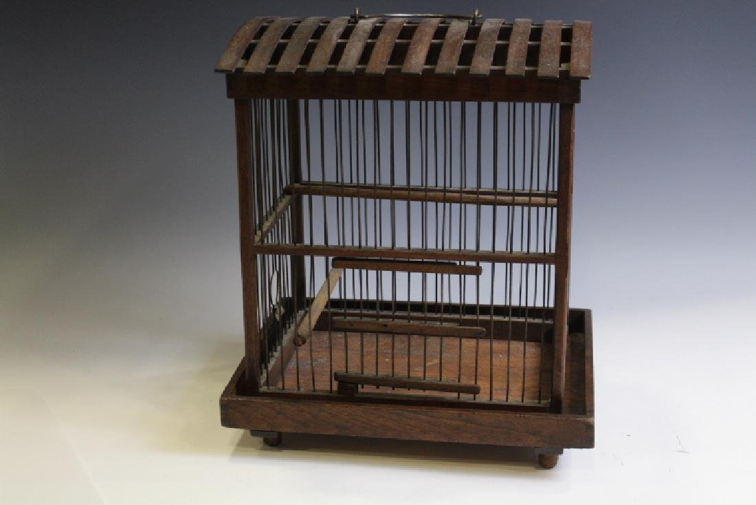Victorian Bird Cage Oak Frame & Base