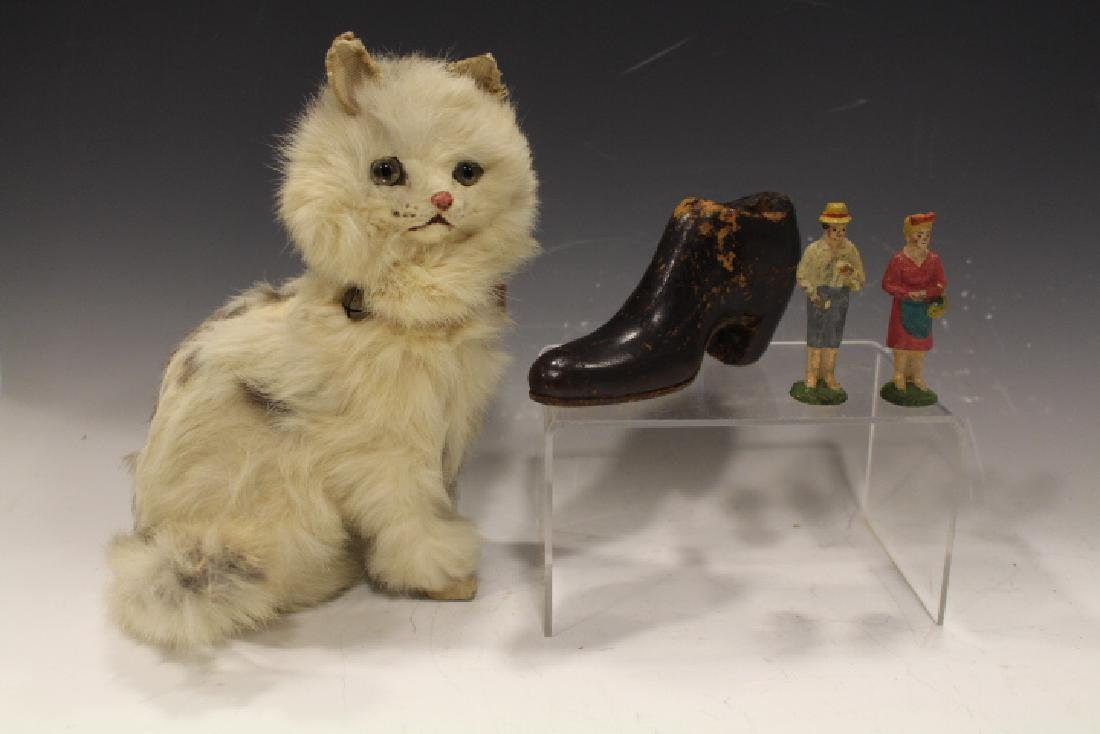 Rabbit-Fur Cat, Wooden Pincushion Shoe & Figures