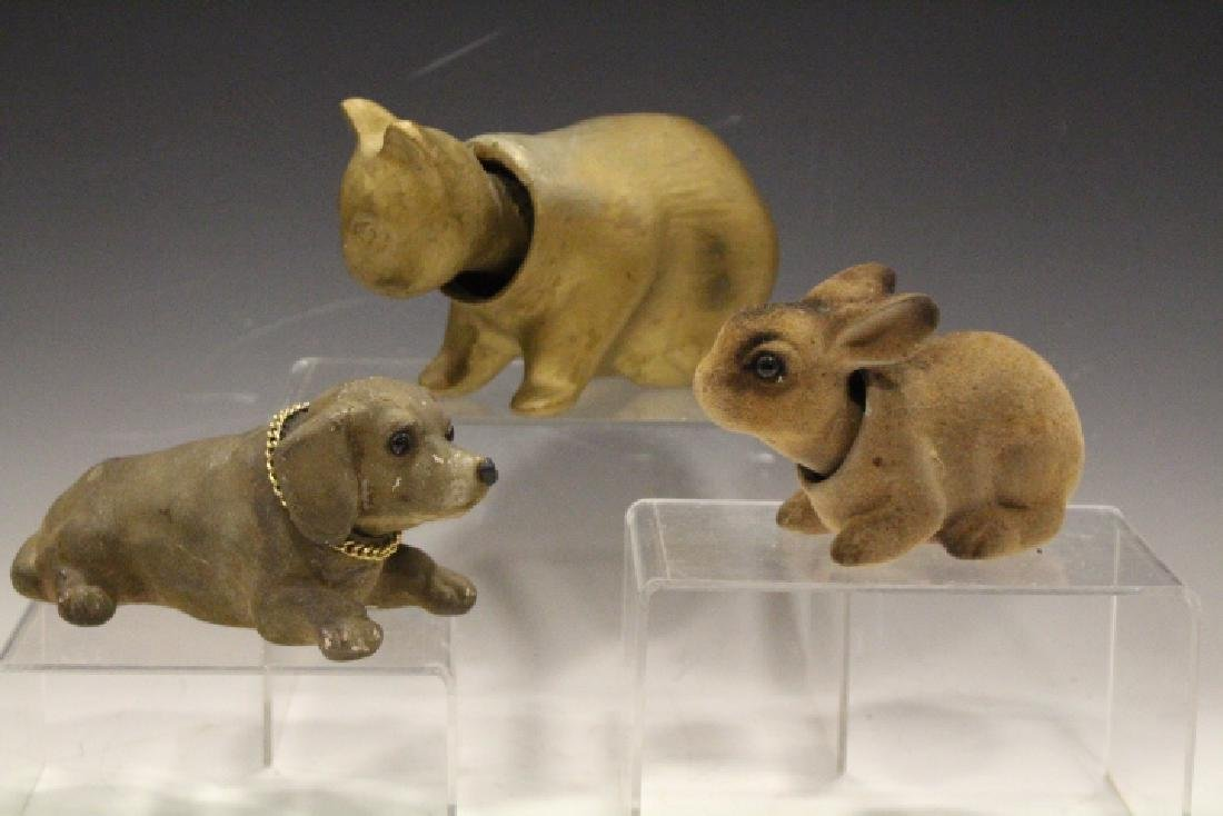 Chalkware Animal Nodders - Cat, Dog & Rabbit