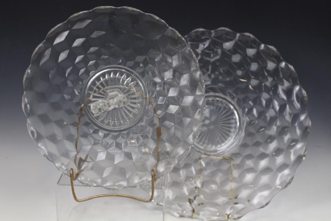 Fostoria Glass Nappy & Tray