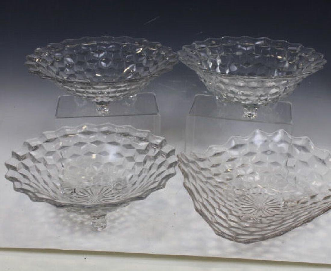 Fostoria Glass Footed Bowls - Lot of 4
