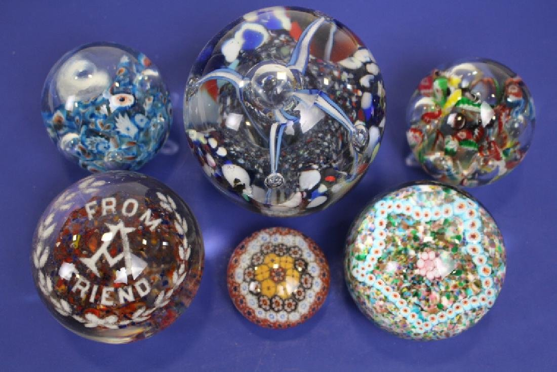 Lot of 6 Vintage Paperweights