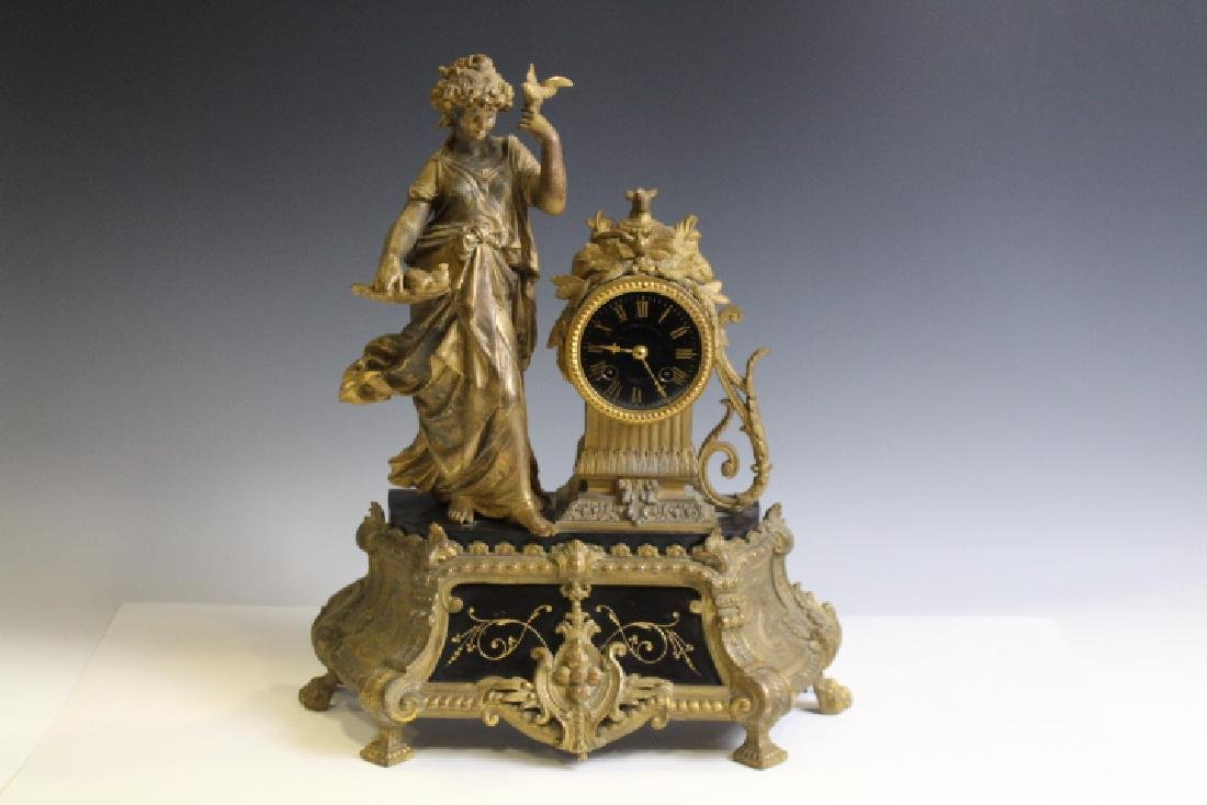 19th C French Statue Clock