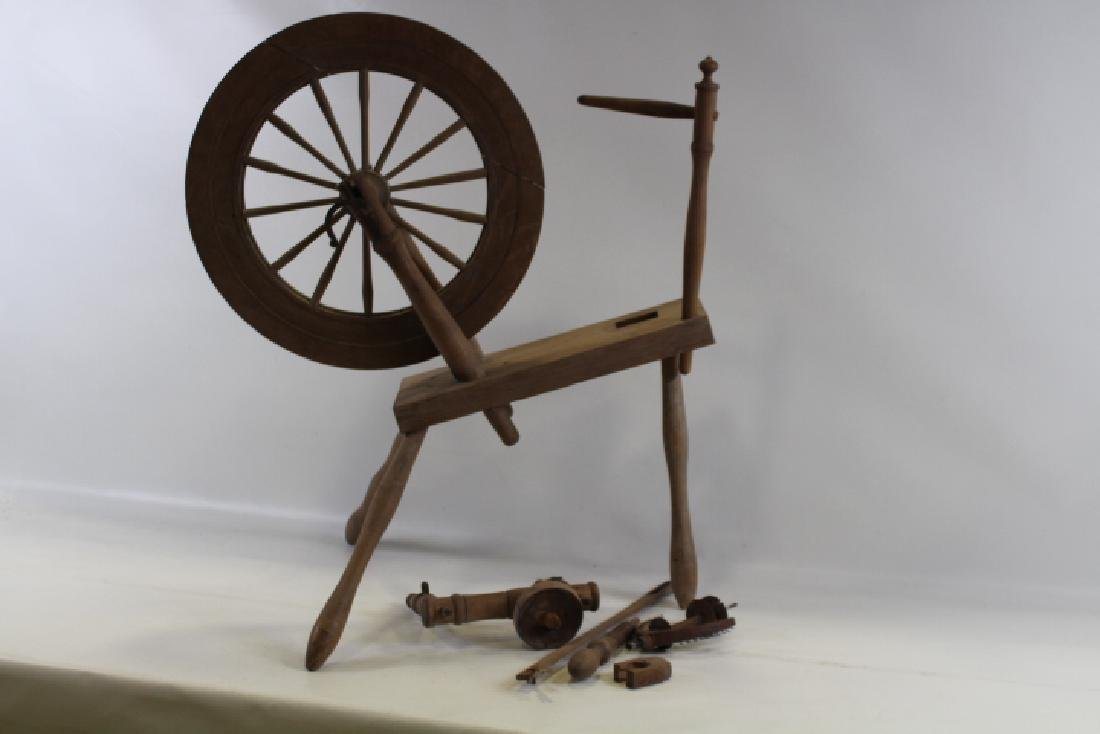 19th C Spinning Wheel