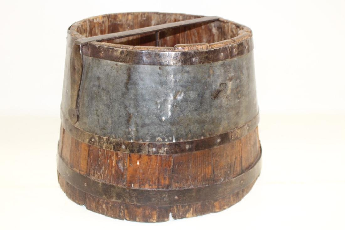 19th C Painted Well Bucket