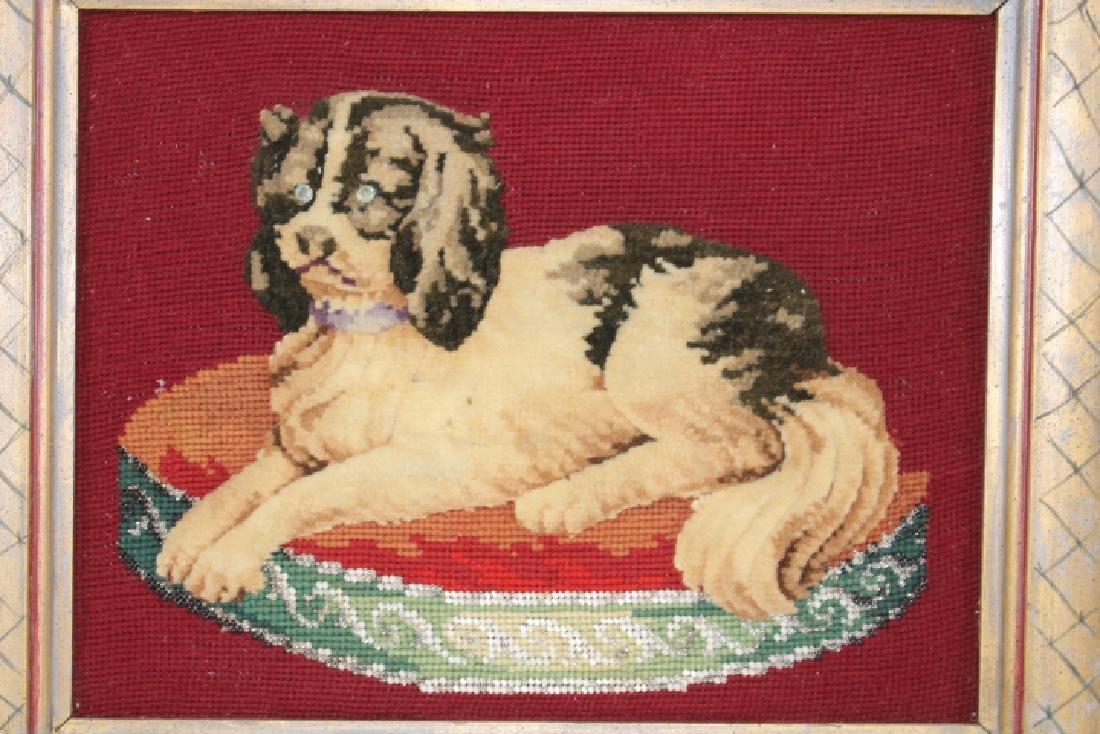 King Charles Spaniel Needlework Portrait