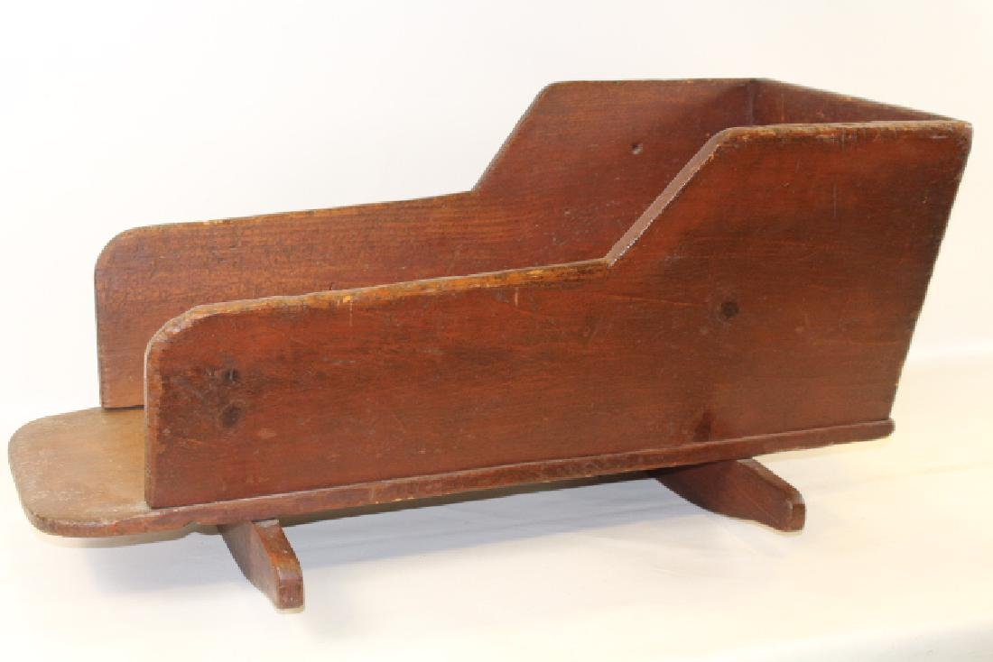 19th C Cradle in old Red Stain