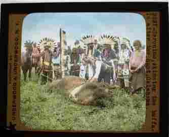 6 Lantern Slides - American Indians w/ Geronimo
