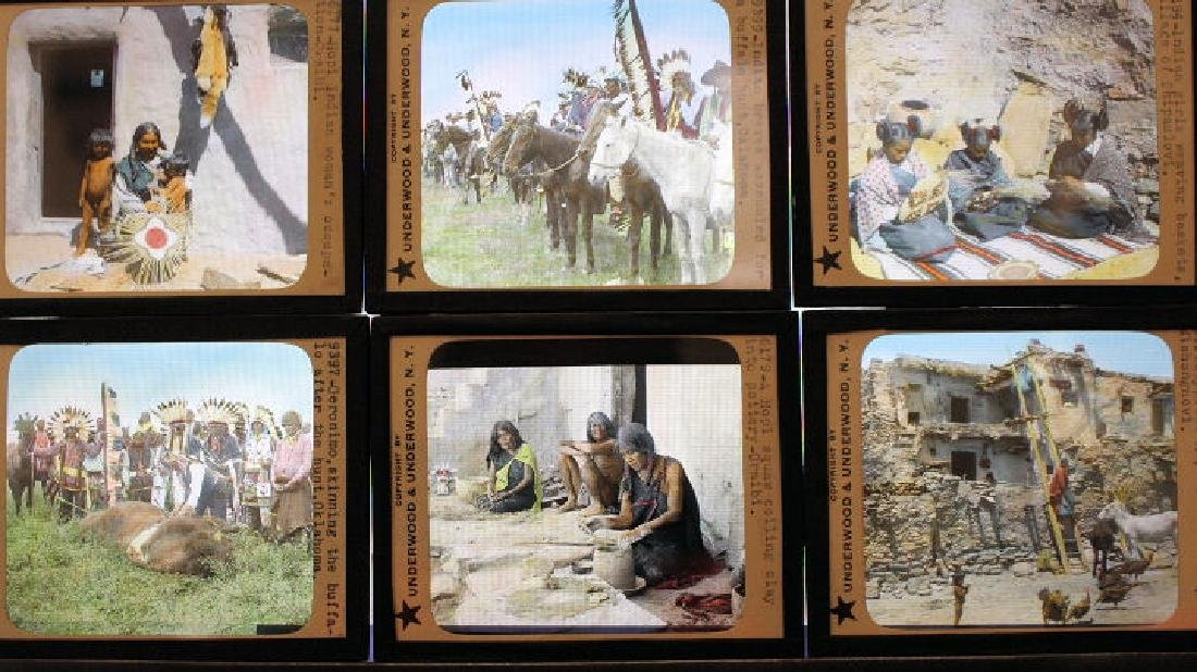 6 Lantern Slides - American Indians w/ Geronimo - 2