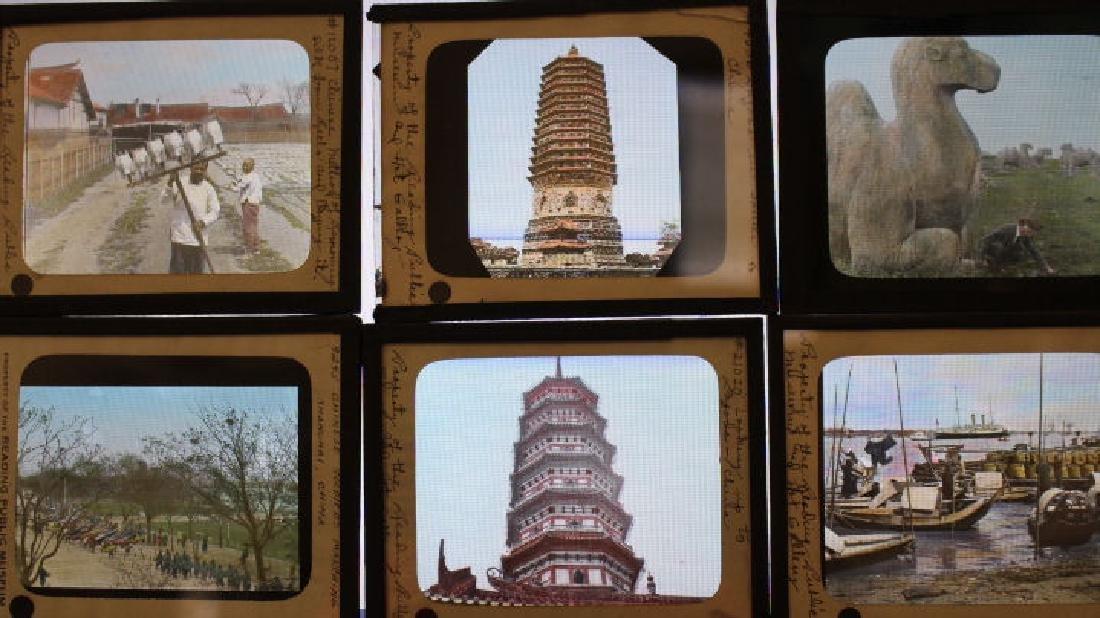 12 Lantern Slides - China