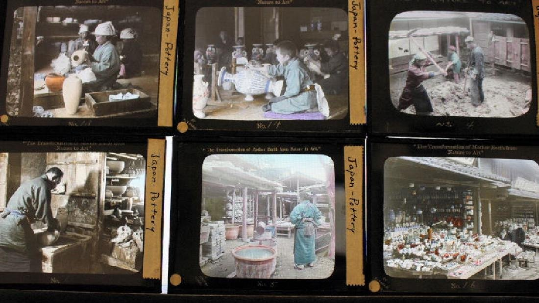 19 Lantern Slides - Japan pottery by T. Takagi - 2