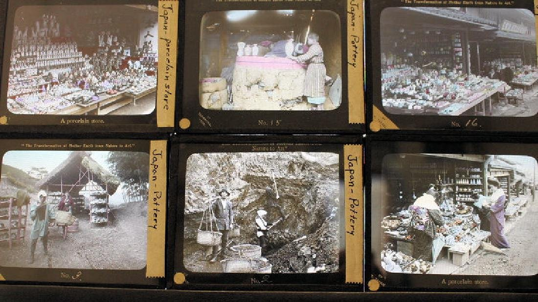 19 Lantern Slides - Japan pottery by T. Takagi - 3